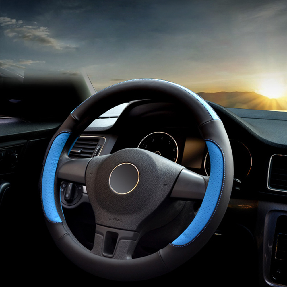 Car Steering Wheel Cover Universal Microfiber Leather Steering Wheel Cover all season36/38/40CM Anti-slip Breathable Car Styling