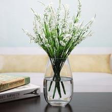 Modern Flower Pot Water Plant Glass Vase Tabletop A Vase For Flower Glass Desktop Flower Vases For Decoration Craft Friend Gift