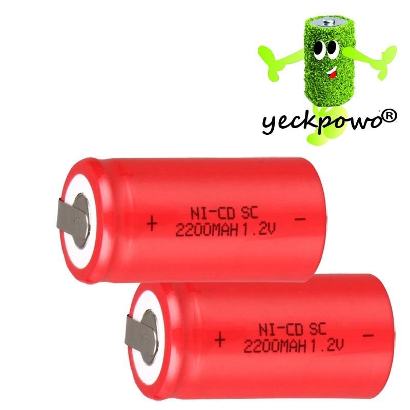 40 unids SUBC batería batería recargable 1.2 v 2200 mah SC batería power bank ba
