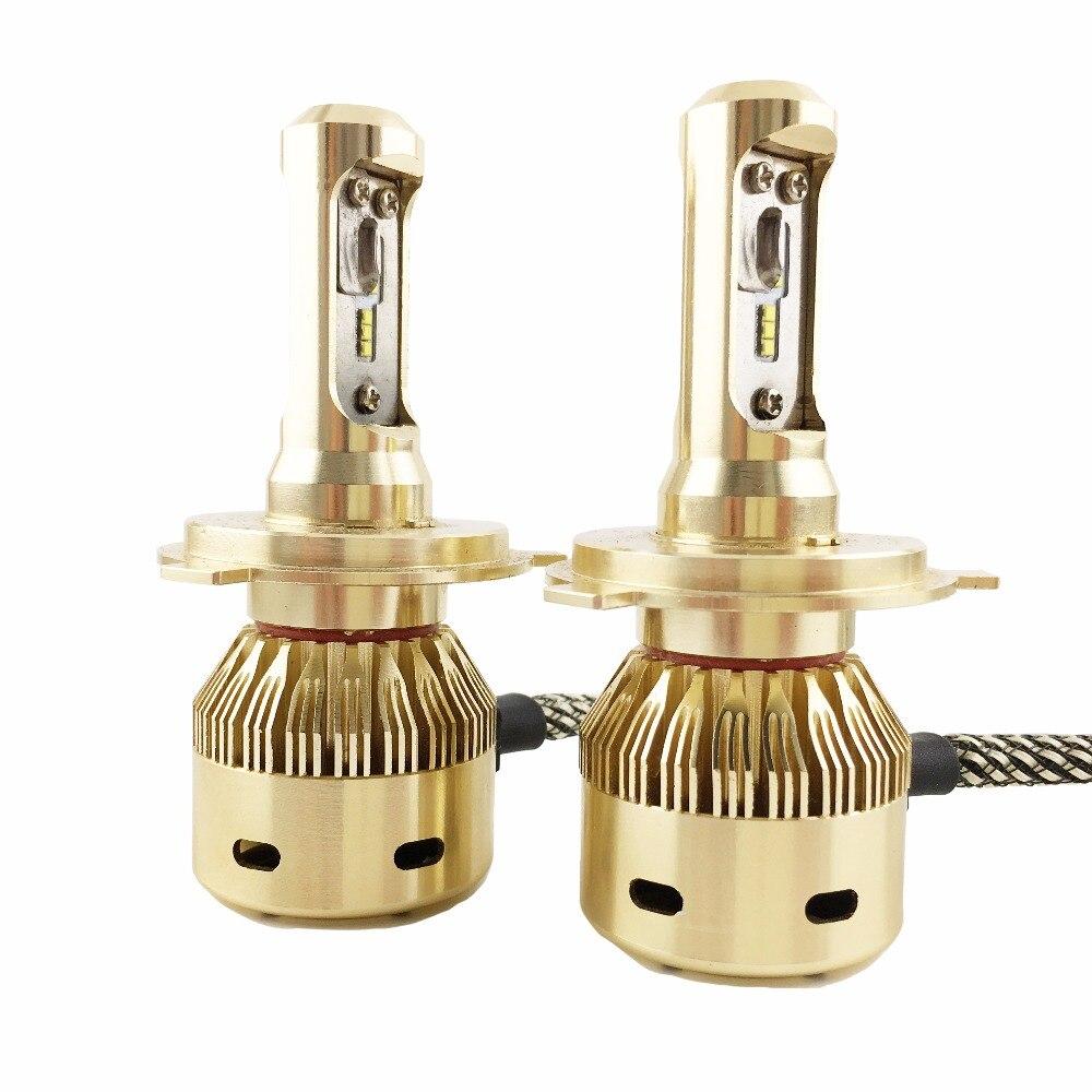 H4 voiture style LED phare de voiture 90 watts 8000 Lumen phares Kit de lampe de Conversion Auto voiture phare avant lumière avec TURBO ventilateur