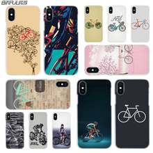 BINFUL iphone case cover transparent for iPhone X XR XS Max 8 7 6s 6 Plus 5 5s XI R 2019 4s BIKE CYCLING(China)