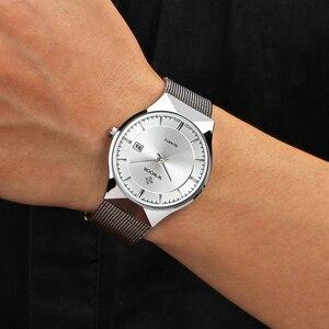 Image 5 - Marque De Luxe Hommes de Montre Date 50 m Étanche Ultra Mince Horloge Mâle Casual Quartz Montres Hommes Poignet Montre de Sport relogio masculino