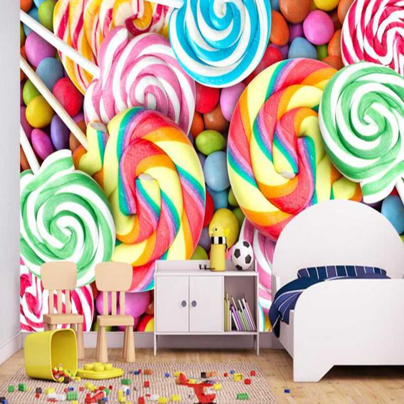 Youman 3d Photos Hd Desktop Picture Baby Wallpaper Children Room Lollipop Candy Full Hd Wallpapers Wall Mural Home Decoration Hd Wallpaper 3d Photowallpaper Wall Murals Aliexpress