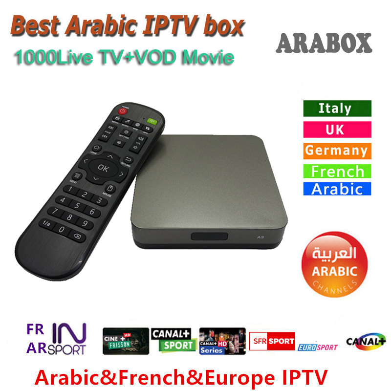 Android Arabic IPTV box marstv 1000+ channels Arabox Live Stream Sports TV box 2 two years free Set top Box Streamer