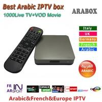 Android Arabic IPTV Box Marstv 1000 Channels Arabox Live Stream Sports Media 2 Two Years Free