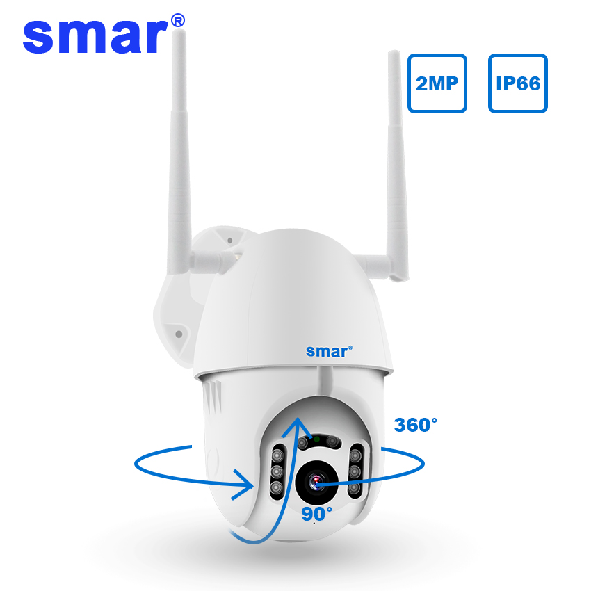 Smar 1080P Cloud Storage Wireless PTZ IP Camera Speed Dome CCTV Security Cameras Outdoor ONVIF Two Way Audio P2P Camera WIFI