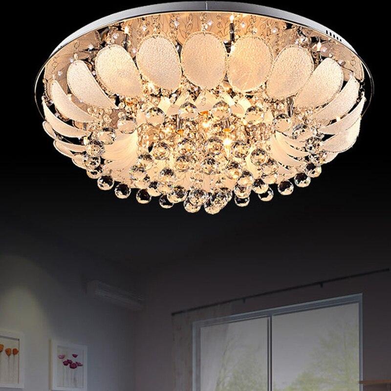 Led E14 Modern Stainless Steel Crystal Glass Lamparas De Techo Ceiling Lights.LED Ceiling Light.Ceiling Lamp For Foyer