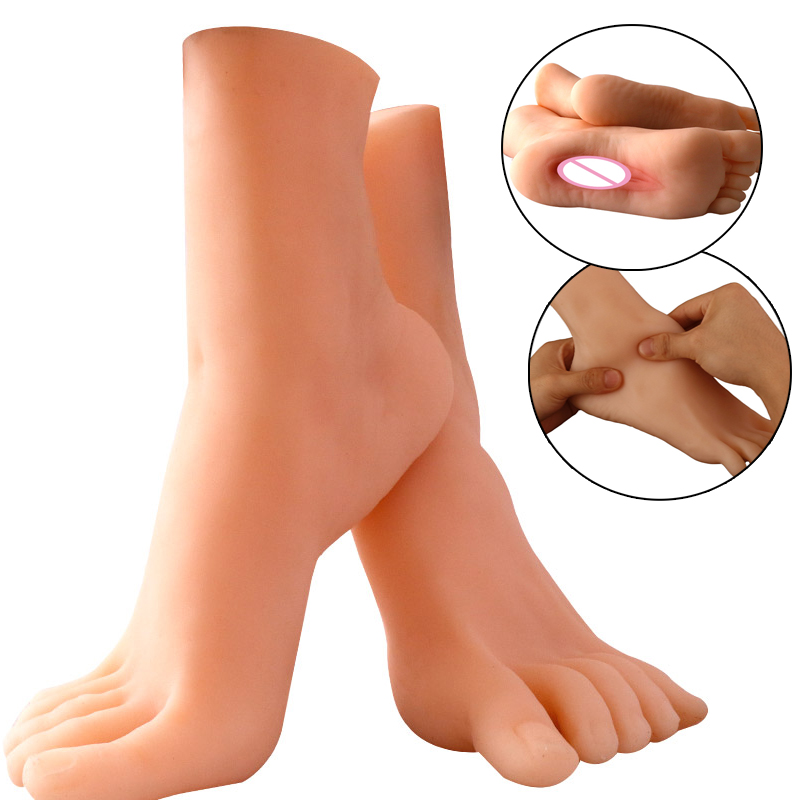 Foot Type Male Masturbation Cup Realistic Vagina Real Pussy Licking Toys Men Masturbator Aircraft Cup Sex Pussy Adult Products sex toys for men shake beer cup male masturbation electric aircraft suction cup mature adult products masturbator vagina 1 pcs
