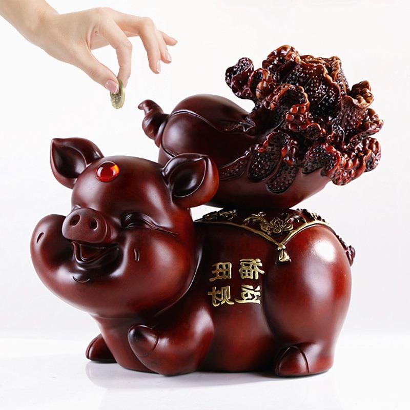 20-43 cm Creative cochon tirelire garçon fille cadeau d'anniversaire vacances cadeau Apple tirelire décorations pour la maison ornements de bureau R518