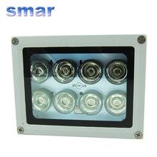 100%-Lámpara de visión nocturna para cámara CCTV, iluminador infrarrojo IR, 8 LED, 40-80m, novedad