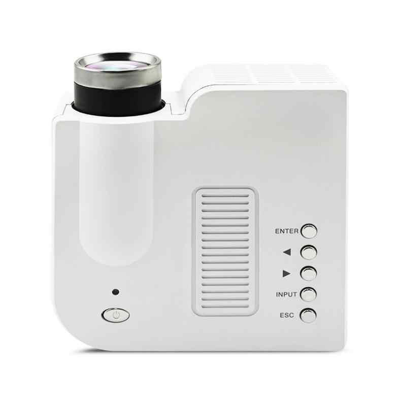 UC28 универсальный 400 люмен HD 400 люмен мультимедийный светодиодный бытового проектор Поддержка 80 дюймов Большой Экран проекции