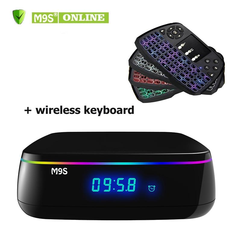 2GB+16GB M9S MIX Android 6.0 Smart TV Box Amlogic S912 Octa-core OTT TV Box 2.4G+5G dual wifi 1000M Media Player + A3 Keyboard цена