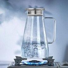 Чайники стеклянные чашки для чая и чайники высокое качество кухонная утварь 1800 мл кухонная посуда