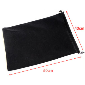 Image 1 - 5pcs/lot 40x50cm Large Size Big Drawstring Black Velvet Pouch Bags For Christmas Wedding Gift Packaging Bag Can Logo Printed
