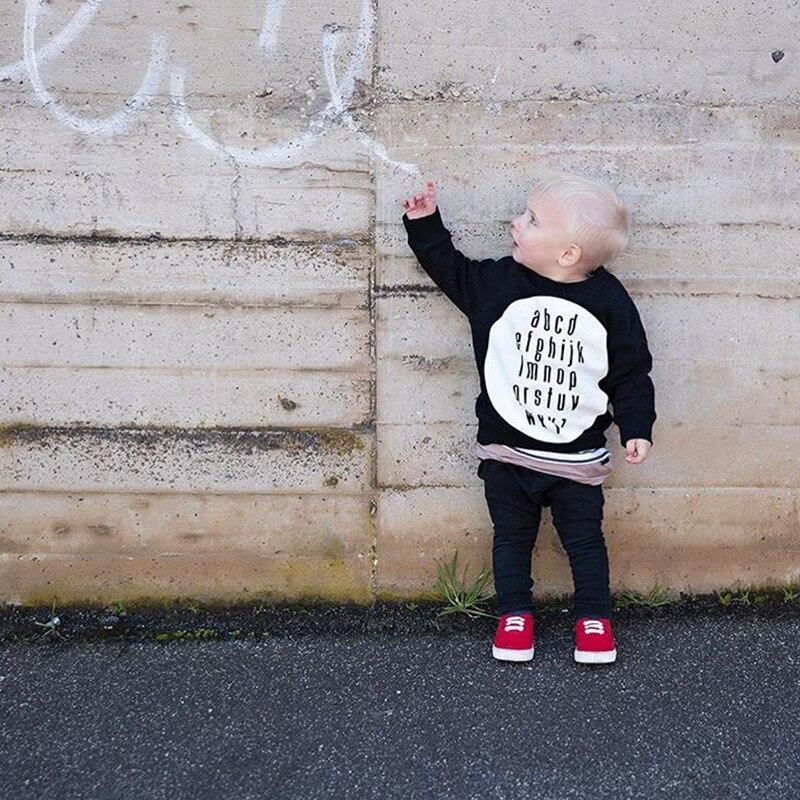 Enkelibb Sweatshirt Kids Long-Sleeve Winter Tops Girls Black Autumn Baby-Boys Fashion