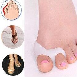 2 PCS = 1 Paar Gel Fußpflege Werkzeug Bunion Corrector Knochen Big Toe Schutz Hallux Valgus Haarglätter Zehenspreizer pediküre