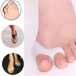 2 piezas = 1 par de herramientas de Gel para el cuidado de los pies Corrector de hueso Protector de dedos grandes Hallux Valgus alisador de dedos del pie pedicura