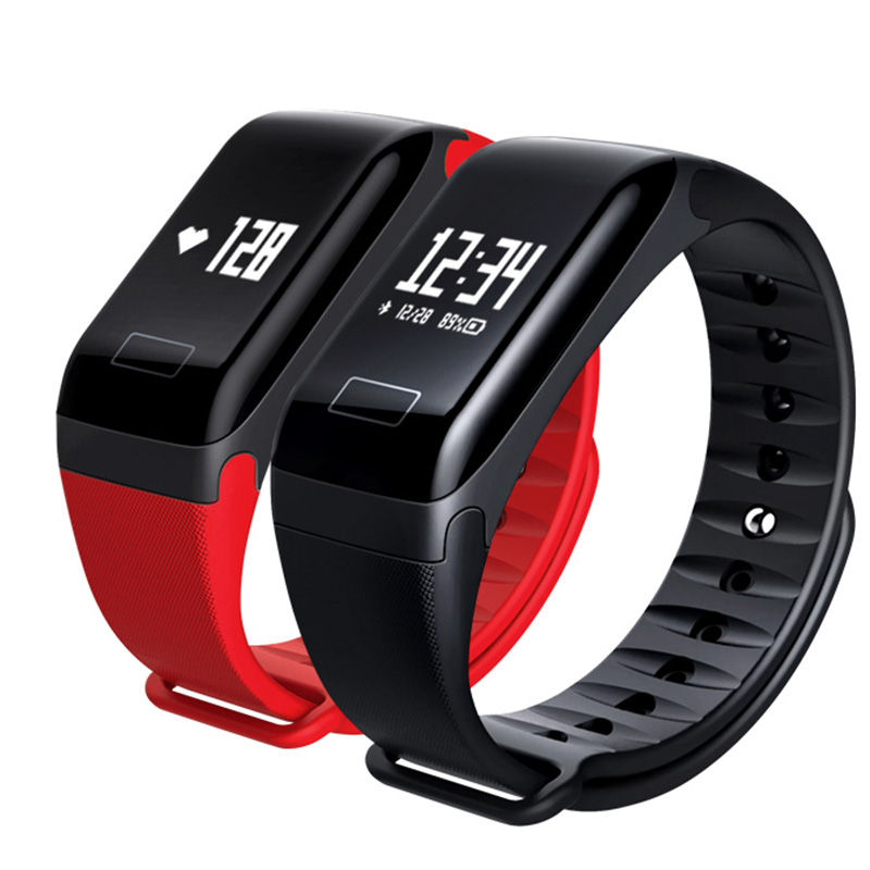 Smart Watch F1 Blood Pressure SpO2 Health Monitoring Fitness Bracelet Heart Rate Monitor Phone SMS Reminder pk fitbits miband2