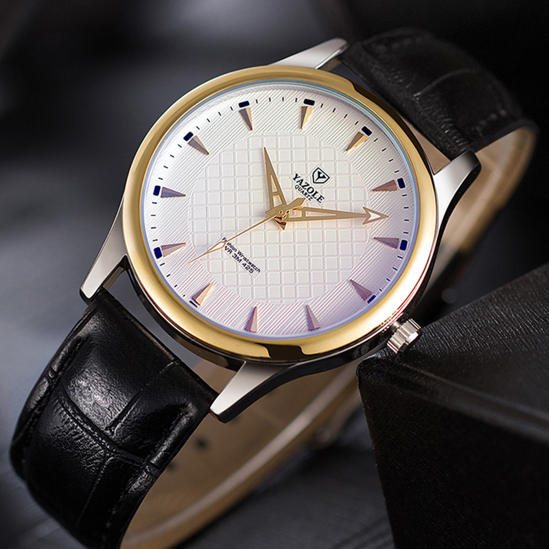 Man Watch 2018 Top Luxury Brand Yazole Watches Fashion Minimalist Watch Men Leather Band Mens Watches Quartz relogio masculino