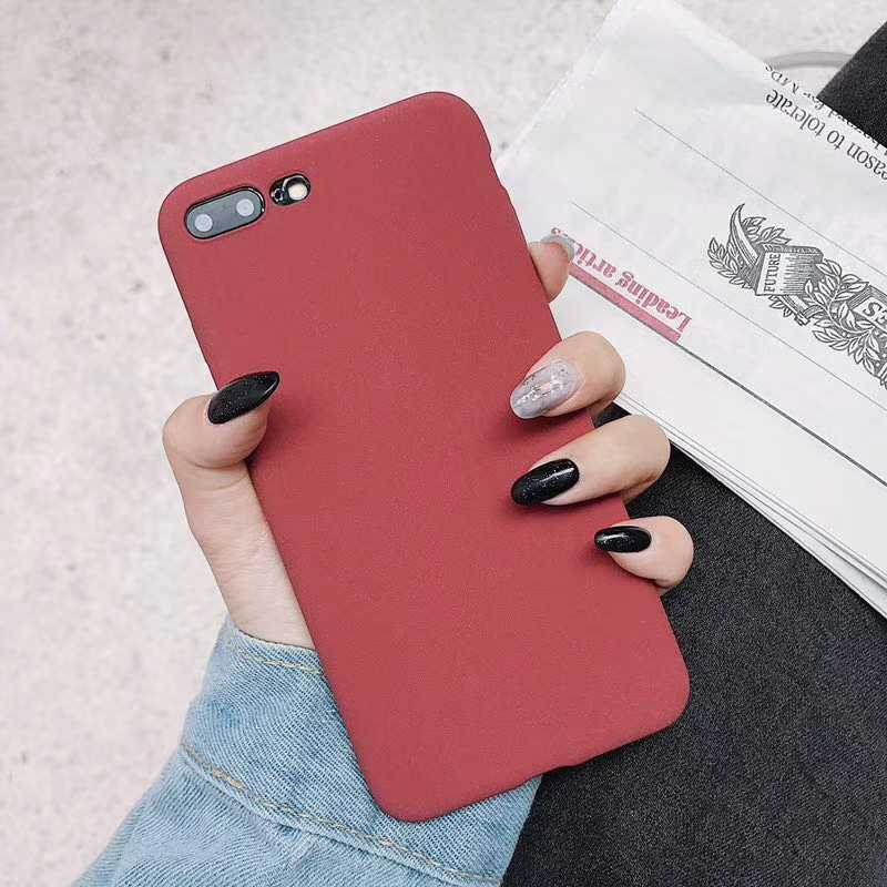 Matte TPU Phone Cases for iphone X SE 5 5S 6S 6 7 8 Plus Cover Silicone Fundas Huawei P20 Lite Mate 10 Pro Honor 9 8 Cover