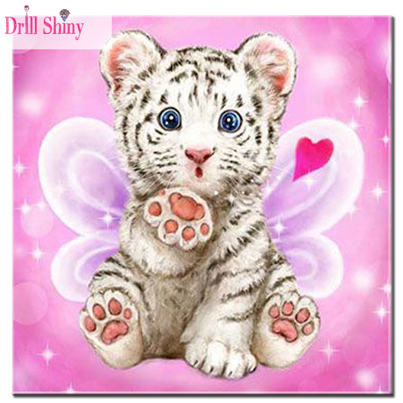 diamond embroidery tiger 5d diy diamond painting full dill round diamond cross stitch mosaic animals home decoration paintings