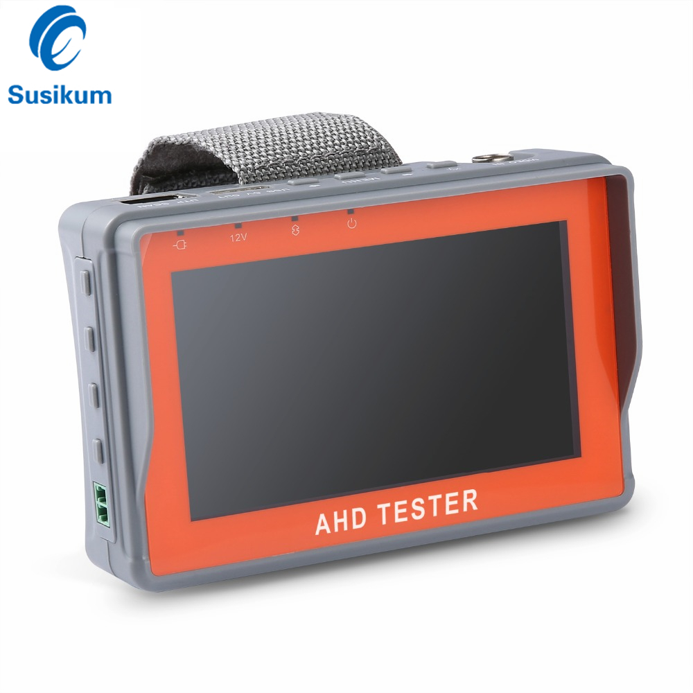 4.3 Inch HD AHD Mini CCTV Tester Monitor AHD 1080P Analog Camera Testing PTZ UTP Cable Tester 12V1A Output sannce ahd cctv tester monitor 4 3 inch hd 1080p analog camera ptz utp cable tester 12v1a output for home security