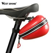 WEST BIKING ABS Bike Saddle Bag Waterproof Bicycle Seat Bag Cycling Rear Storage Box Rainproof Bike Back Seat Seatpost Bags