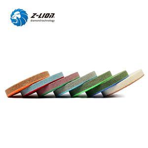 Image 2 - Z lion ensemble 4 pièces, éponges marbre 100mm, éponges pour le polissage humide, tampons de polissage avec pierre, granit, 4 pièces/ensemble