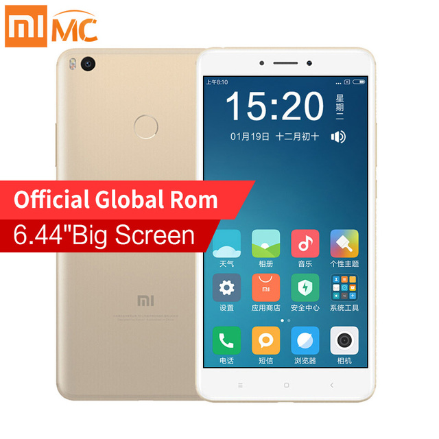 "Оригинал Сяо Mi Max 2 мобильный телефон 4 ГБ Оперативная память 64 ГБ 6.44 ""Дисплей Snapdragon 625 Octa core Max2 12.0MP Камера 5300 мАч смартфон"