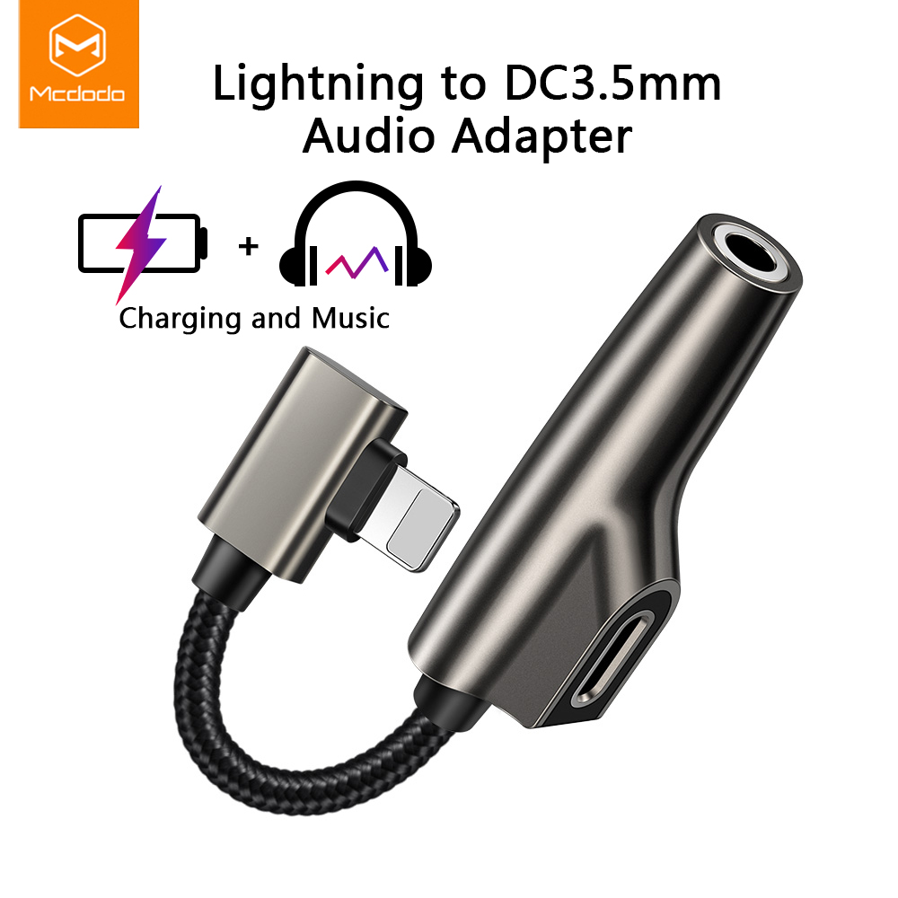 Mcdodo Adapter Cable-Splitter iPhone Lightning Charging-iPhone Audio 8-Plus for XS