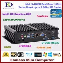 Новый Mini PC Intel Core i5 4200U с 8G Оперативная память + 12 8G SSD + 500 г HDD, HDMI 2 COM RS232, USB 3.0, Wi-Fi, Windows 10 OS