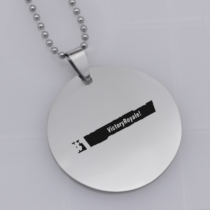 Ufine FPS Game pendant fortnite #1 VICTORY ROYALE pendant stainless steel jewelry necklace Customed words or name necklace N468