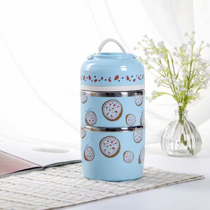 All Layer Leakproof Thermos Thermal Lunch Box kids Adult School Cartoon Stainless Steel Bento Food Container Portable Japanese