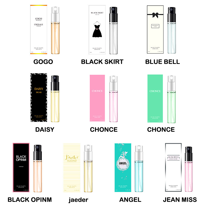 3ML Perfume For Men And Women Atomizer Bottle Glass Fashion Lady Female Parfum Long Lasting Flower Fragrance Deodorant
