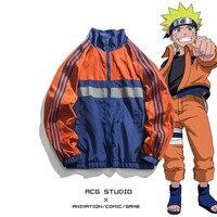 New NARUTO Uchiha Sasuke Cosplay Costumes Ninja Fashion Cotton Zipper Hoodies Daily Casual Sweater Sportswear Jackets Coat Top