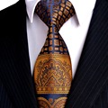 Multicolor Brown Gold Yellow Navy Blue Floral Mens Ties Neckties 100% Silk Jacquard Woven Fashion Free Shipping Wholesale