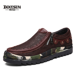 Dekesen 2017 new fashion men s casual shoes genuine leather loafers vintage zip shoes for mens.jpg 250x250