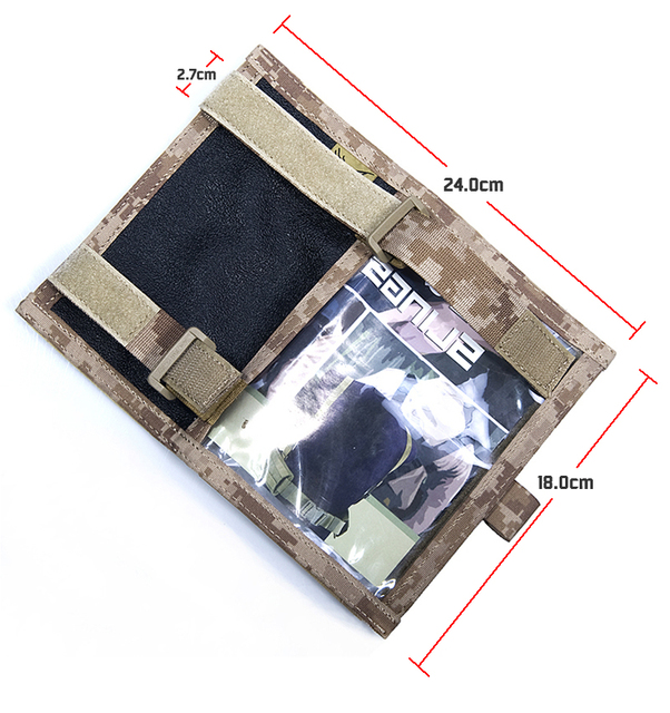 Militech Coyote Cb Color Flyye Map Arm Band Pouch Protector Booklet Storage Bag Forearm