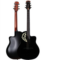 New Design Round Back Rosewood Fingerboard Picea Asperata Acoustic Electric Guitar With Carbide Alloy Of Shell