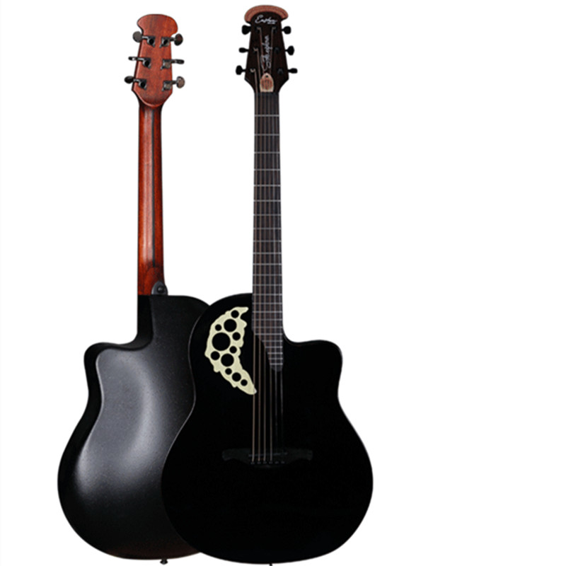 New Design Round Back Rosewood Fingerboard Picea Asperata Acoustic-electric Guitar with Carbide Alloy of Shell Guitarra with EQ spruce top sapele back and side rosewood fingerboard acoustic guitar 34 acoustic guitarra free shipping