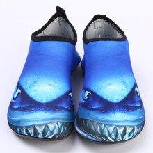 Пляжная обувь унисекс; кроссовки для йоги; обувь для плавания; обувь для водных видов спорта; шлепанцы для серфинга; светильник; 3d-принт акулы