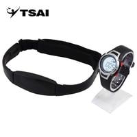 Tsai 1 Unidades ritmo cardíaco Monitores Sport fitness reloj favor al aire libre Ciclismo deporte impermeable inalámbrico con correa de pecho bien vender
