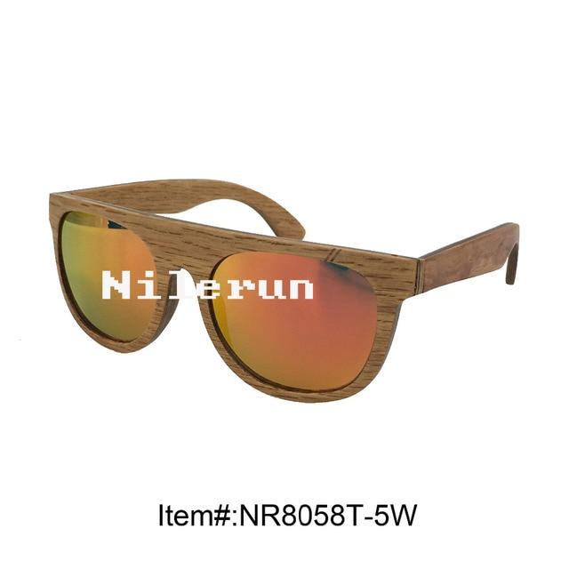 a3de45ea9c87e Moldura de madeira óculos de sol uv400 lente polarizada espelho orange