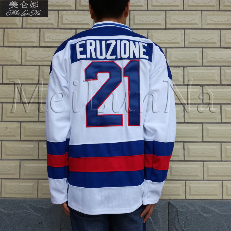 MeiLunNa 1980 Miracle On Ice Team USA  #21 Mike Eruzione White Hockey Jerseys 2102MeiLunNa 1980 Miracle On Ice Team USA  #21 Mike Eruzione White Hockey Jerseys 2102
