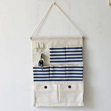 New Hot Sale 7 Pocket Storage Bag Hanging Hook Wall Hanging Bag  Multilayer Grocery Bags Hanging Organizers