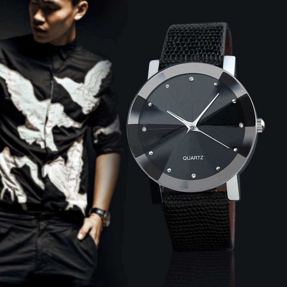 Wrist Watch Men Brand Luxury Famous Analog Quartz Display Sport Leather Band Stainless Steel Black Dail Relogio Watches