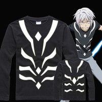 Anime Reflective Long Sleeve Tees Men Tshirt To Aru Majutsu no Index Cosplay Toaru Kagaku no Railgun S T shirt
