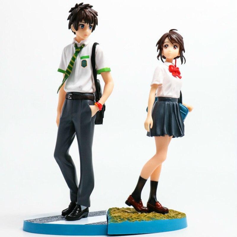 Your Name Tachibana Taki Miyamizu Mitsuha Tv Japanese Anime One  Figure Pvc Figures Model Collection Toys