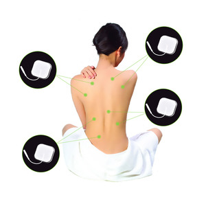 Image 5 - 5*5cm 100pcs Nerve Stimulator Electrode Pads EMS Tens Electrode Acupuncture Muscle Stimulator Massager Pads 2mm Plug
