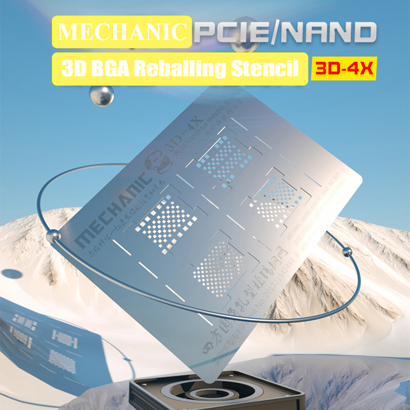 MECHANIC 3D BGA Reballing Stencil For IPhone XR XS X 8 7 6S 6 IPad All Series Hard Disk NAND PCIE Planting Tin Template